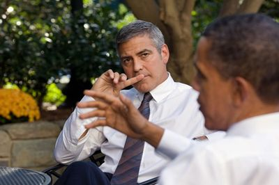 George-Clooney-and-President-Obama