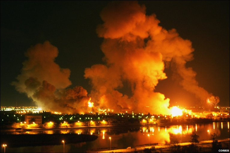 Image result for iraq war 2003 shock and awe