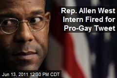 Rep-allen-west-intern-fired-for-pro-gay-tweet
