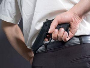 Gun-behind-back