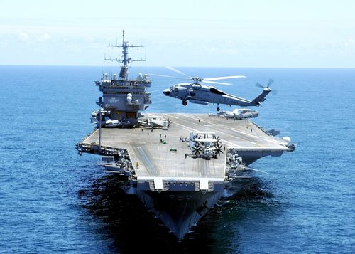 Nuclear-powered-aircraft-carrier-and-has-more-steel-construction-than-the-empire-state-building-she-is-the-largest-navy-vessel-with-a-price-tag-of-451-million