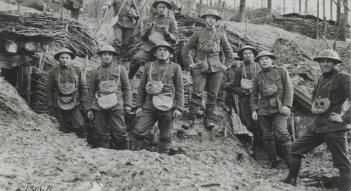 This-1918-picture-shows-marines-in-france-with-gas-masks-hanging-from-their-necks